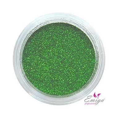 Brokat Zielony Ciemny 0.2 mm. Pojemność Słoiczka 5 ml.