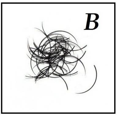 Rzęsy  Jedwabne Profil B. Grubość 0,15. Długość 9mm.