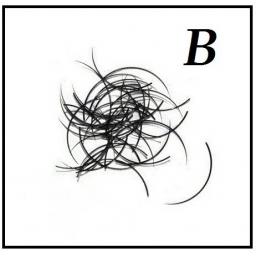 Rzęsy  Jedwabne Profil B. Grubość 0,15. Dlugość 12mm