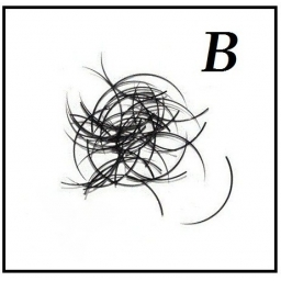 Rzęsy  Jedwabne Profil B. Grubość 0,15. Dlugość 13mm