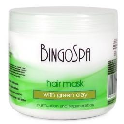 Maska do włosów z zieloną glinką BingoSpa 500 ml