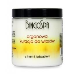 Arganowa kuracja do włosów z lnem i jedwabiem 250 ml. Bingo Spa