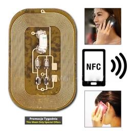 Świecąca Naklejka Led Zielona w Technologii NFC