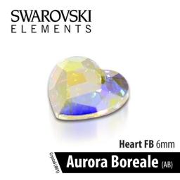 SWAROVSKI SERCE - CRYSTAL AURORA BOREALE 6 mm 1szt.