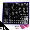 Blaszka Ze Wzorkami XL (C) + Stempel Gratis