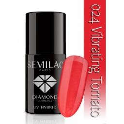 Lakier hybrydowy Semilac 024 Vibrating Tomato - 7 ml