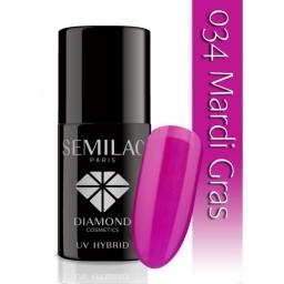 Lakier hybrydowy Semilac 034 Mardi Gras - 7 ml