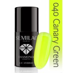 Lakier hybrydowy Semilac 040 Canary Green - 7 ml