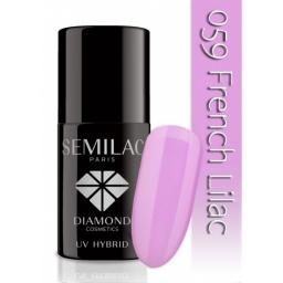 Lakier hybrydowy Semilac 059 French Lila - 7 ml