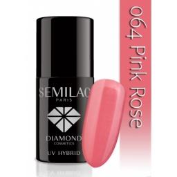 Lakier hybrydowy Semilac 064 Pink Rose - 7 ml