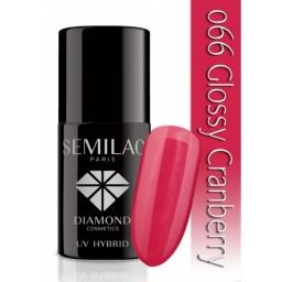 Lakier hybrydowy Semilac 066 Glossy Cranberry - 7 ml