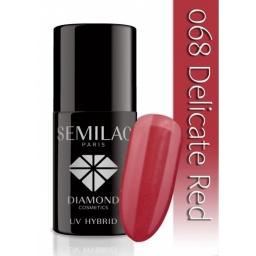 Lakier hybrydowy Semilac 068 Delicate Red - 7 ml