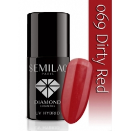 Lakier hybrydowy Semilac 069 Dirty Red - 7 ml