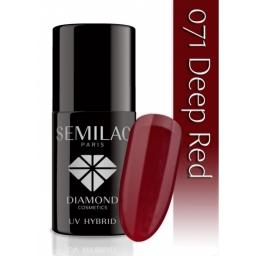 Lakier hybrydowy Semilac 071 Deep Red - 7 ml