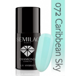 Lakier hybrydowy Semilac 072 Caribbean Sky - 7 ml