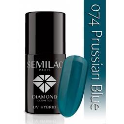Lakier hybrydowy Semilac 074 Prussian Blue - 7 ml