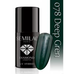 Lakier hybrydowy Semilac 078 Deep Green - 7 ml