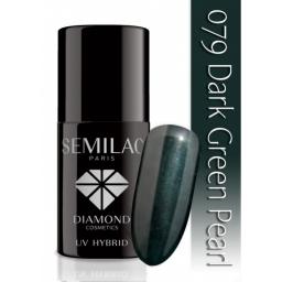 Lakier hybrydowy Semilac 079 Dark Green Pearl - 7 ml
