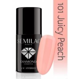 Lakier hybrydowy Semilac 101 Juicy Peach Transparentny - 7 ml