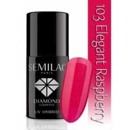Lakier hybrydowy Semilac 103 legant Raspberry - 7 ml