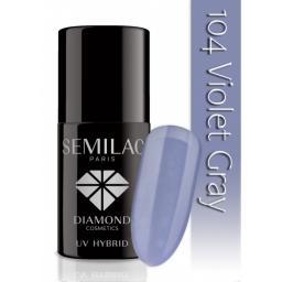 Lakier hybrydowy Semilac 104 Violet Gray - 7 ml
