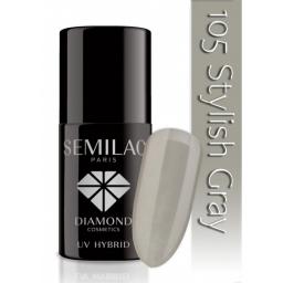 Lakier hybrydowy Semilac 105 Stylish Gray - 7 ml