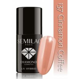 Lakier hybrydowy Semilac 137 Cinnamon Coffee - 7 ml