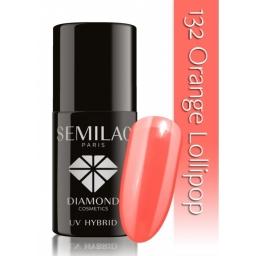 Lakier hybrydowy Semilac 132 Orange Lollipop - 7 ml