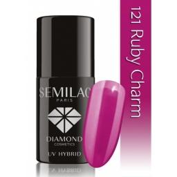 Lakier hybrydowy Semilac 121 Ruby Charm - 7 ml