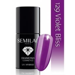 Lakier Hybrydowy Semilac 129 Violet Bliss -  7 ml