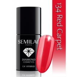 Lakier hybrydowy Semilac 134 Red Carpet   - 7 ml
