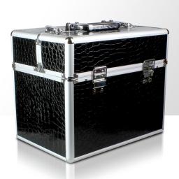 Kuferek rozkładany jednoczęściowy na lampę LCD lub UV - czarny krokodyl
