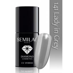 Lakier hybrydowy Semilac 141 Lady in Grey - 7 ml