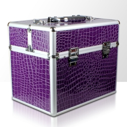Kuferek rozkładany jednoczęściowy na lampę LCD lub UV - fioletpwy krokodyl