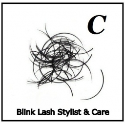Rzęsy Jedwabne  Blink Lash Stylist & Care. Profil C. Grubość 0,20. Długość 14 mm