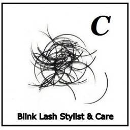 Rzęsy Jedwabne  Blink Lash Stylist & Care. Profil C. Grubość 0,20. Długość 15 mm