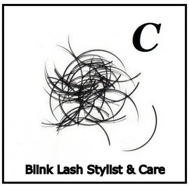 Rzęsy Jedwabne  Blink Lash Stylist & Care. Profil C. Grubość 0,25. Długość 8 mm
