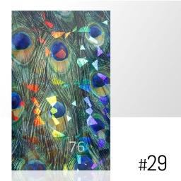 LASER EFFECT - NAKLEJKA SAMOPRZYLEPNA Nr 29 ARKUSZ 8CM x 5CM.