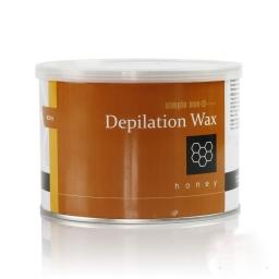 SIMPLE USE - WOSK DO DEPILACJI Z GRECJI - MIODOWY - PUSZKA 400 ml.