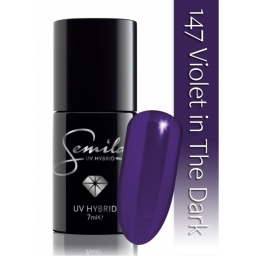 Lakier hybrydowy Semilac 147 Violet in The Dark - 7 ml.