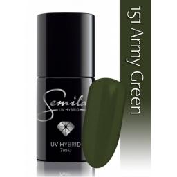 Lakier hybrydowy Semilac 151 Army Green - 7 ml.