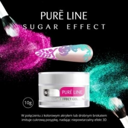Żel UV Silcare Pure Line Sugar Effect 10 g