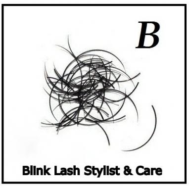 Rzęsy Jedwabne  Profil B. Grubość 0,25. Długość 12mm.  Blink Lash Stylist & Care.