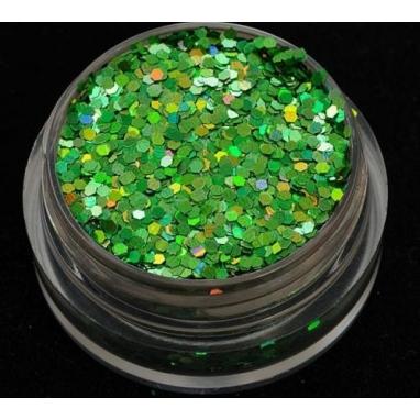 Brokat Zielony Hologram 1 mm. Pojemność 5 ml