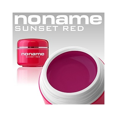 Żel UV No Name Color Sunset Red  5g.