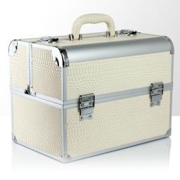 """Kuferek rozkładany jednoczęściowy """"De Luxe"""" - biały wąż"""