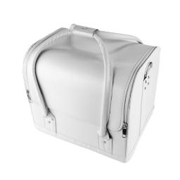 Kuferek skórzany na zamek biały