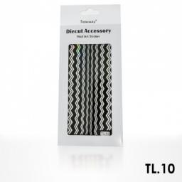 Monochromatyczna naklejka samoprzylepna srebrna - TL10