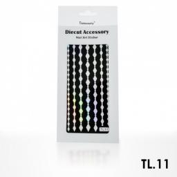 Monochromatyczna naklejka samoprzylepna srebrna - TL11