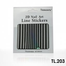 Monochromatyczna naklejka samoprzylepna srebrna - TL203